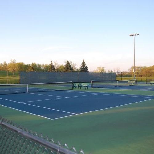Glen Ellyn Park District-Tennis Courts Illuminated