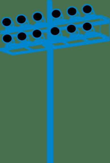 luminaire fixtures blue