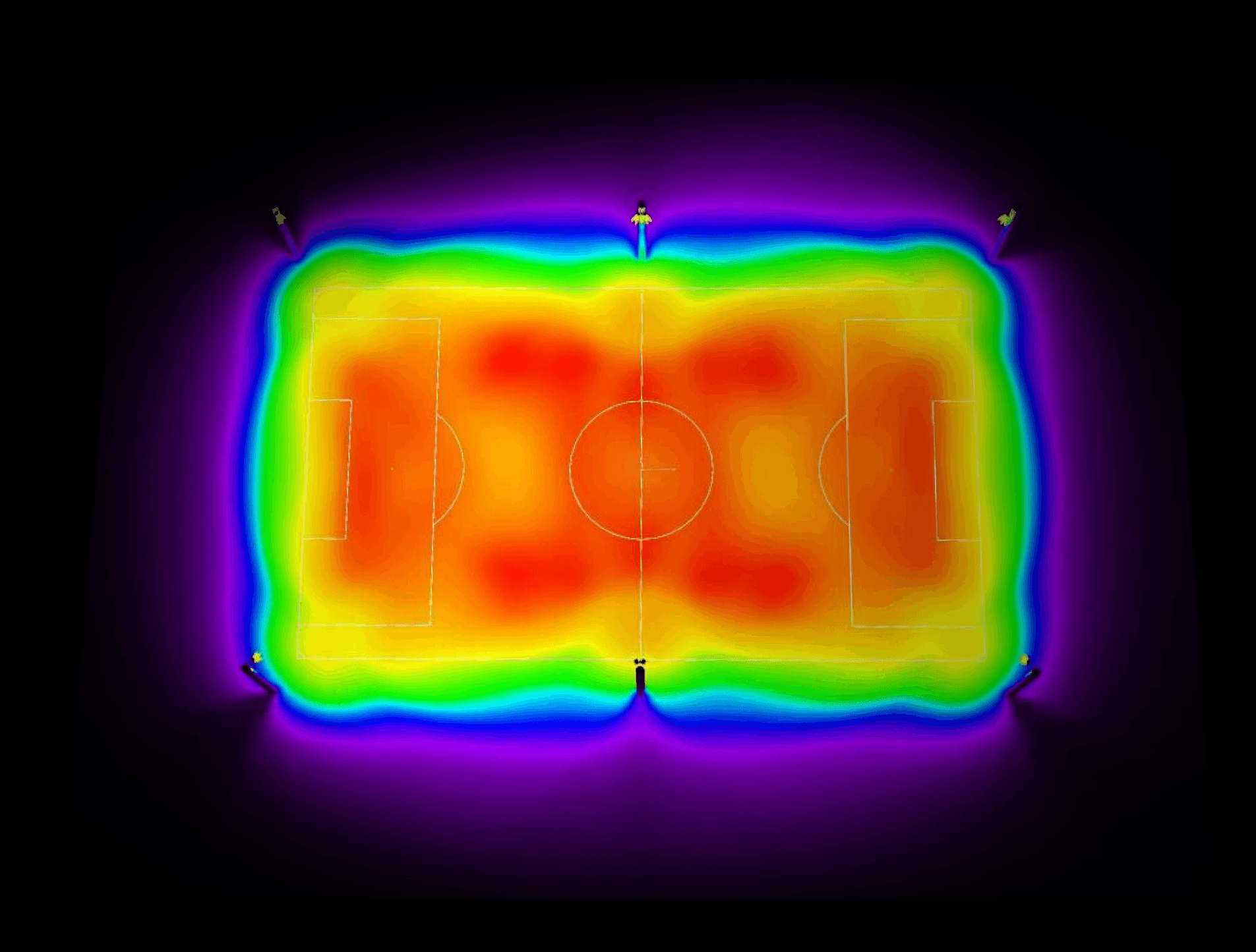 photometic layout of a soccer field